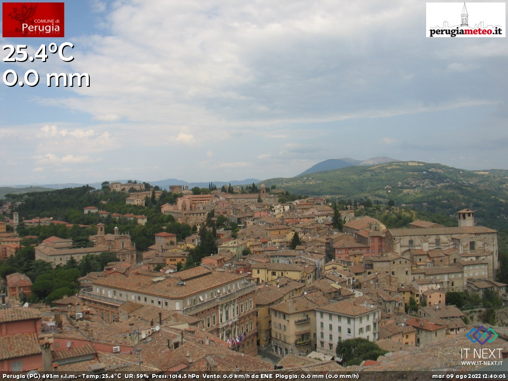 Webcam Perugia, Umbria