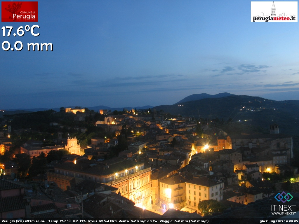 Webcam di Perugia, Umbria