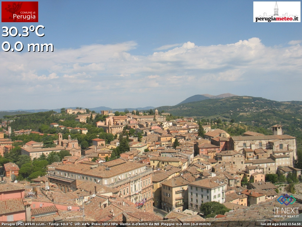 Webcam Perugia - PerugiaMeteo.it