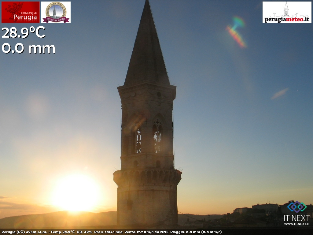 Webcam nei dintorni di Perugia in Umbria
